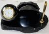 Письменный прибор с шаром и часами большой
