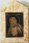 Изображение Серафима Саровского в рамке из карельской березы