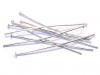 Штифты-гвоздики (пины) р-р 40х0.7мм, цена за 1 шт, цвет - серебро, материал - железо