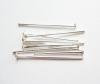 Штифты-гвоздики (пины) р-р 24х0.7мм, цена за 1 шт, цвет - серебро, материал - железо